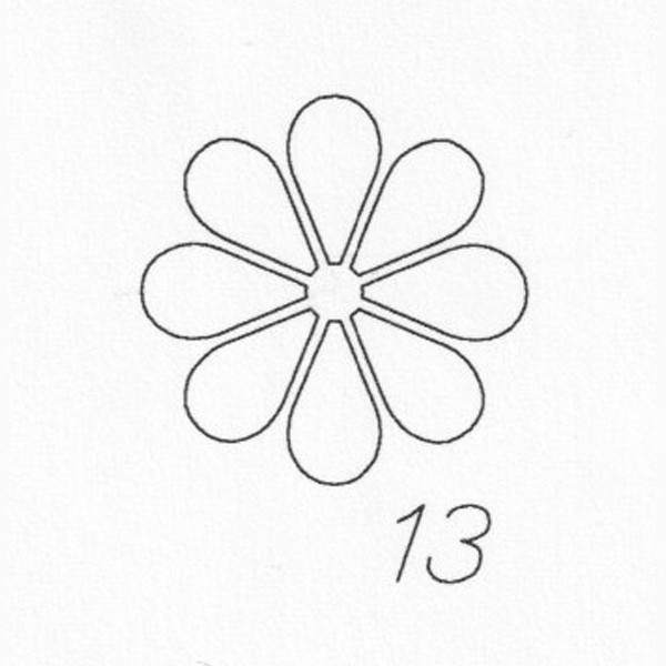 Gravur 13 Blume