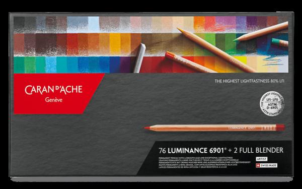 Etui 76 Farben LUMINANCE 6901® + 2 Full Blender